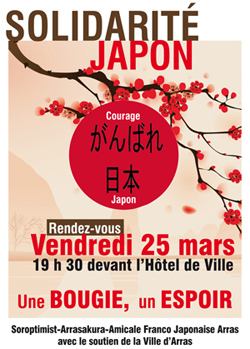 manifestation solidarité japon